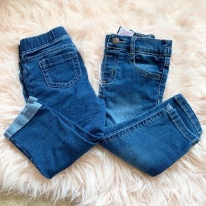 2 Pairs Baby girl jeans, good condition, 18 months